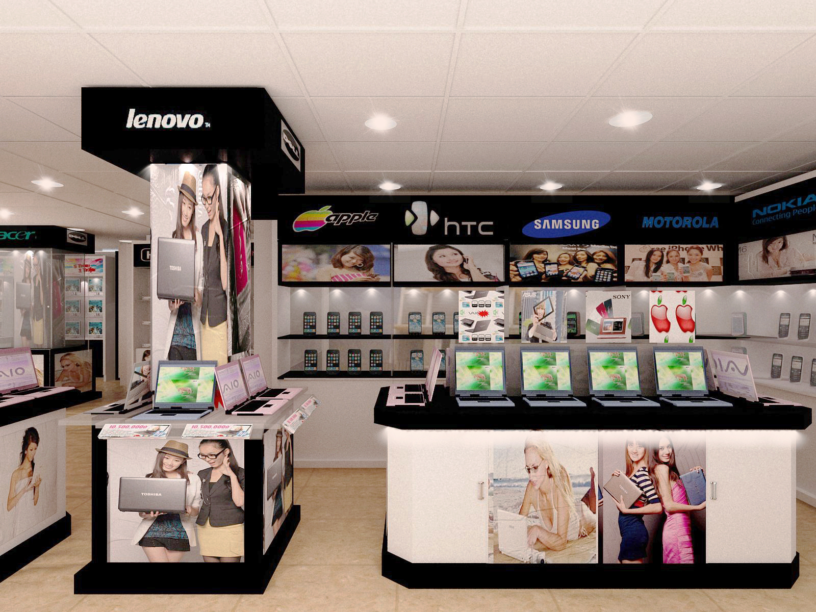 Thiết kế showroom điện thoại