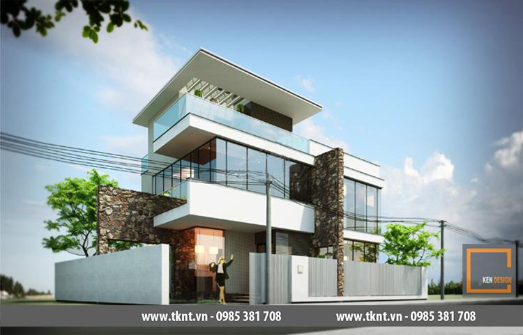 Biệt thự 3 tầng,phong cách hiện đại KEN - B 1684