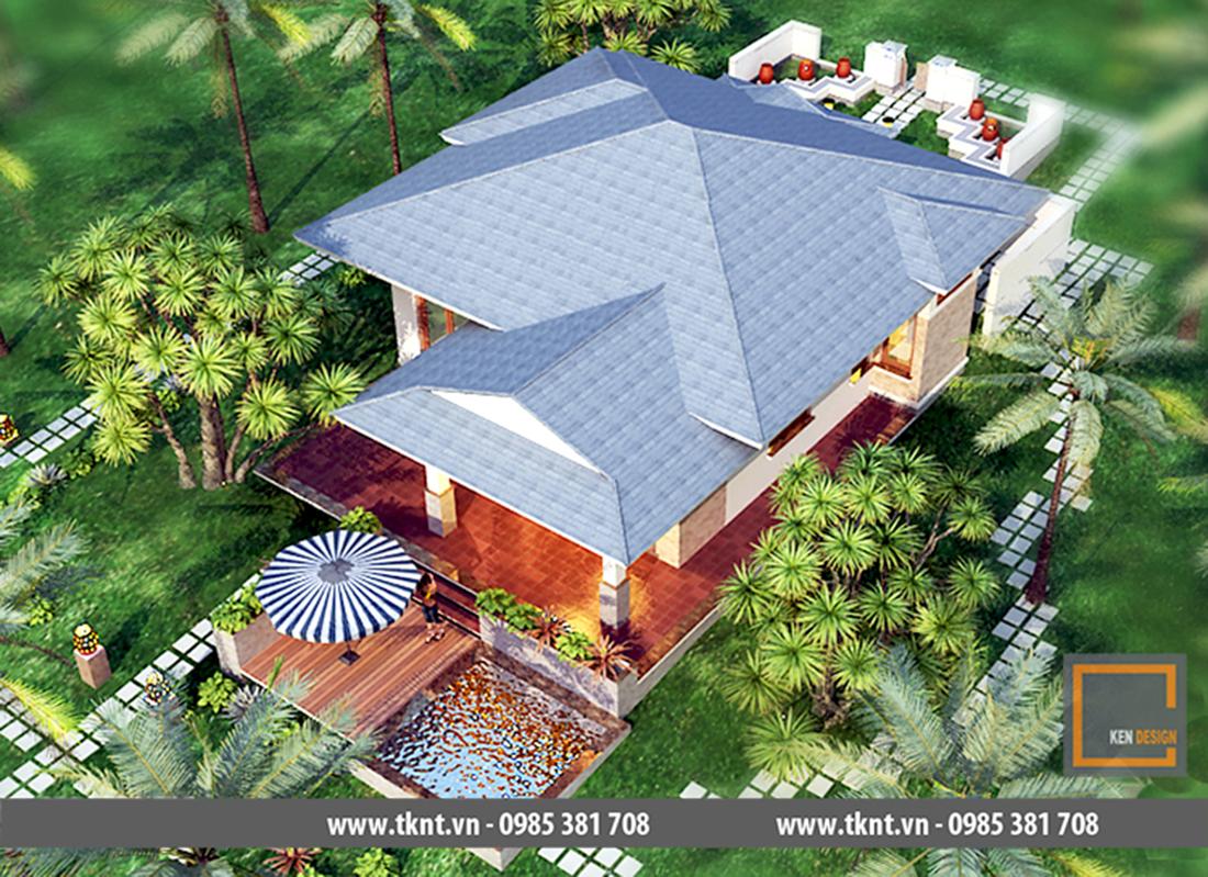 Thiết kế nhà  mái thái 2 tầng – xu hướng nhà ở mới lên ngôi