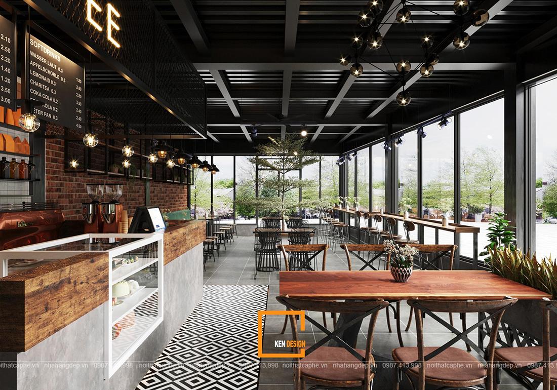 Bí kíp vàng cho một thiết kế quán cafe phong cách công nghiệp hoàn hảo