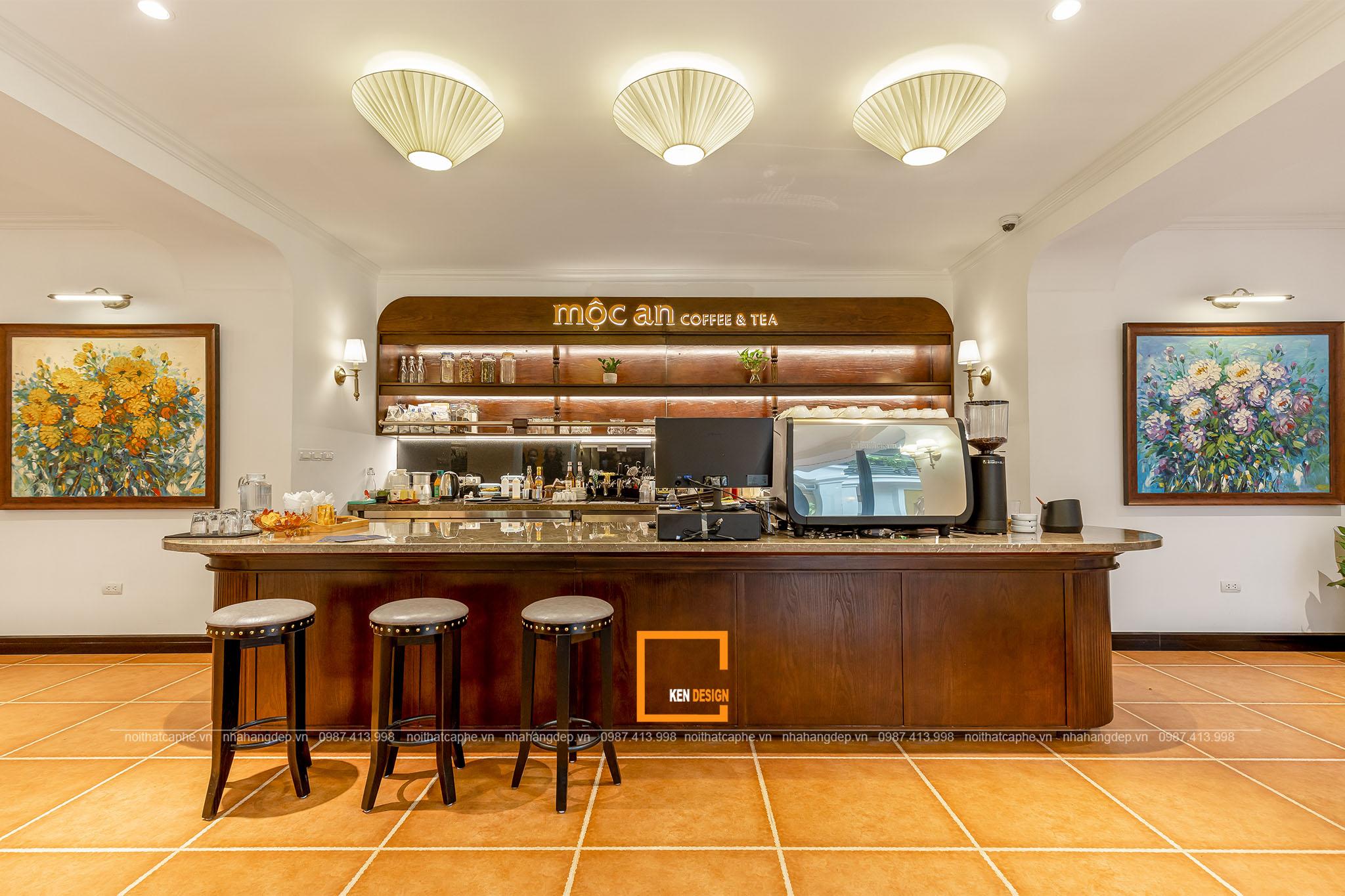 Thiết kế nội thất Mộc An coffee & tea – bình dị chất Á Đông