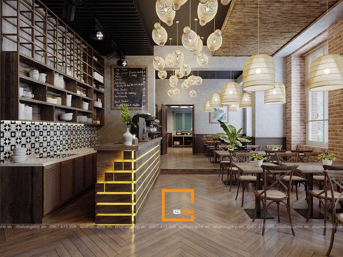 Các không gian cơ bản trong thiết kế nhà hàng 1 tầng