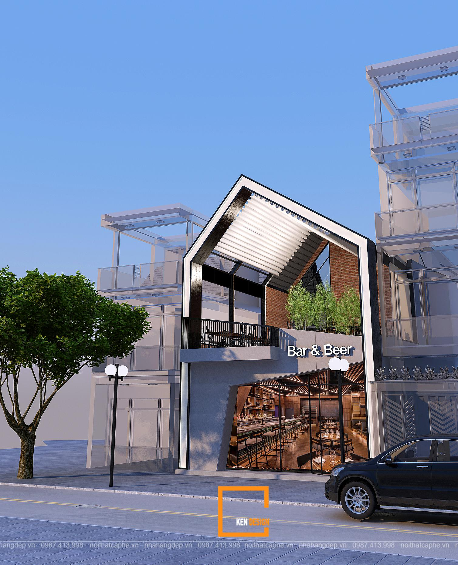 Tiêu chuẩn không gian trong thiết kế nhà hàng 2 tầng