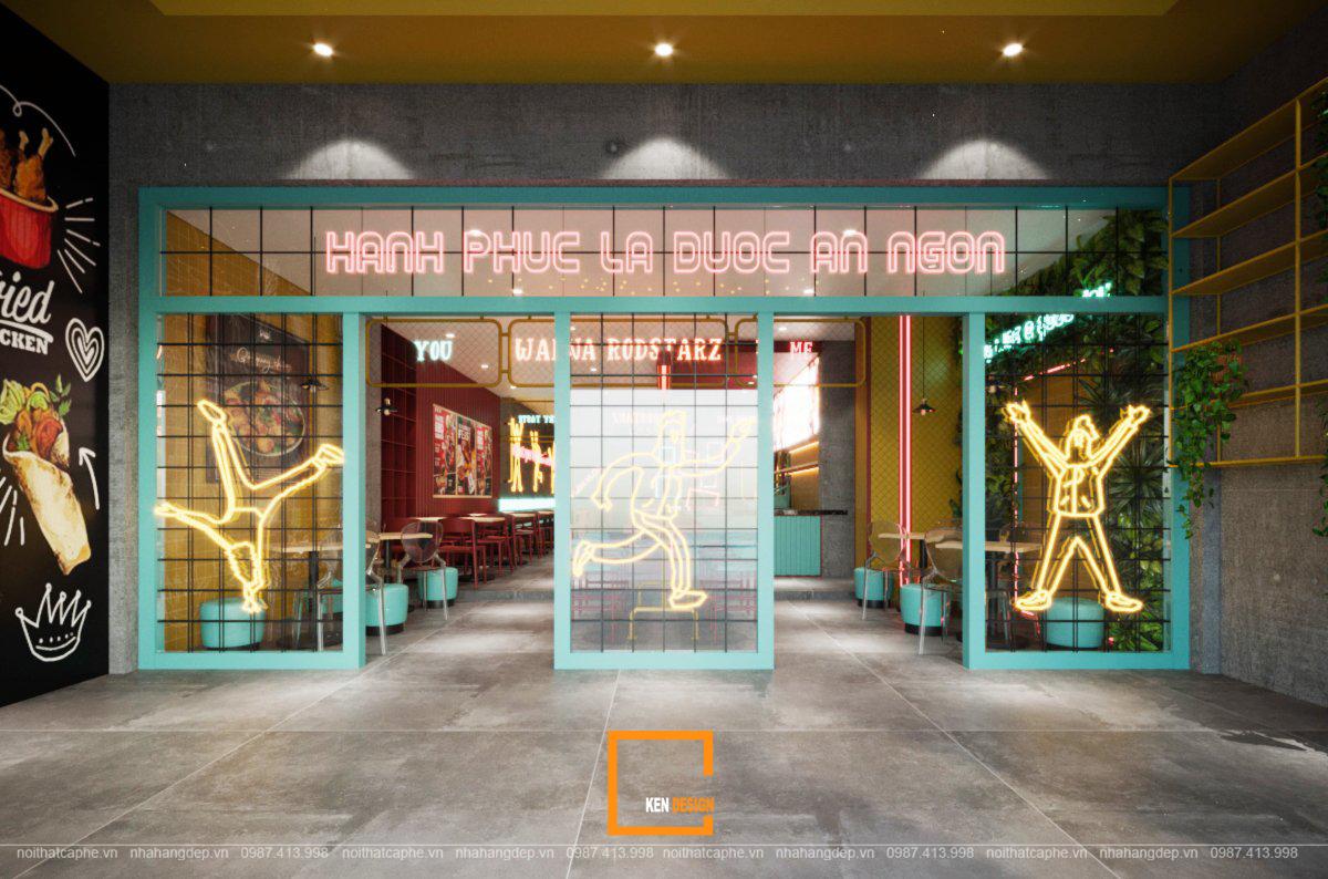 Điểm nổi bật trong thiết kế nội thất quán ăn nhanh RodStarz