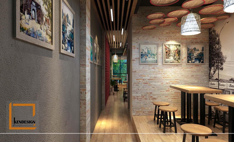 Kinh nghiệm thiết kế nội thất nhà hàng thô mộc của KenDesign