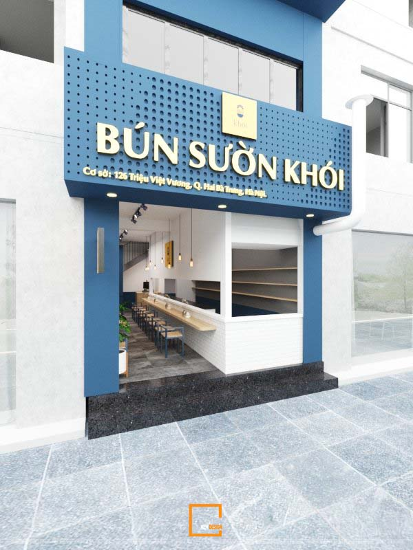 Nhà hàng Bún Khởi từ ý tưởng định vị đến hoàn thiện công trình